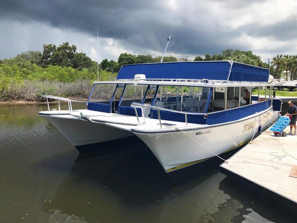 cooper marine, scenic tours, catamaran