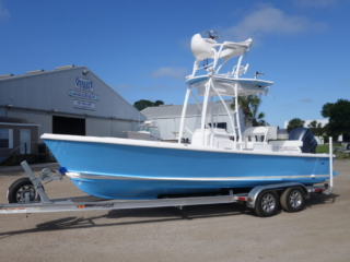 albury brothers, tower boat, tower, powder coat
