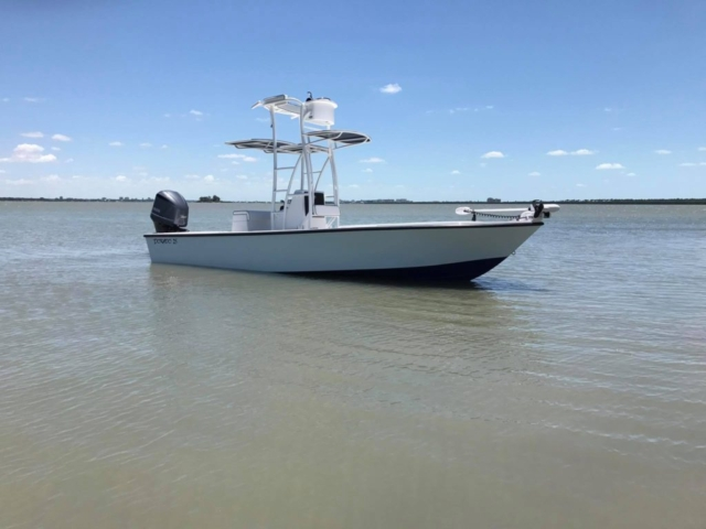 dorado, tower boat, console tower boat, powder coat